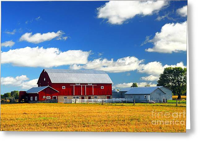 Red Barn Greeting Card by Elena Elisseeva