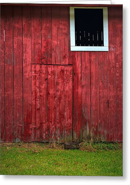 Red Barn Greeting Cards - Red Barn Wall Greeting Card by Steve Gadomski