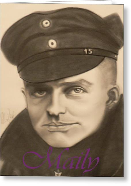 Manfred Richthophen Wwi Greeting Cards - Red Baron Greeting Card by Maily
