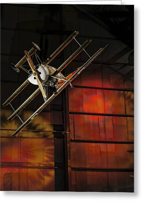 Red Baron's Revenge Greeting Card by Jen Morrison