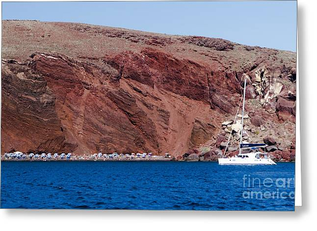 Leda Photography Greeting Cards - Red Beach Greeting Card by Leslie Leda
