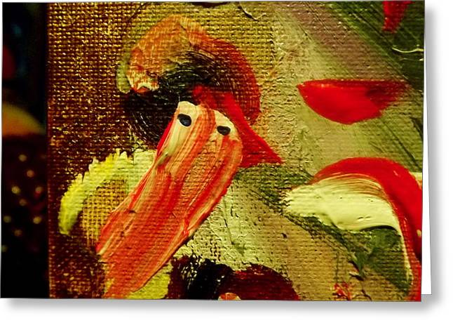 Discovery Mixed Media Greeting Cards - Red-Bearded Snowman Greeting Card by Sheila Van Houten DD PhD