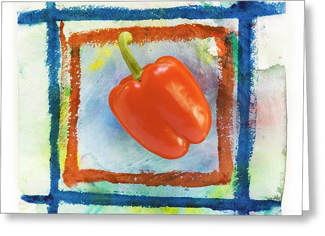 red bell pepper Greeting Card by Igor Kislev