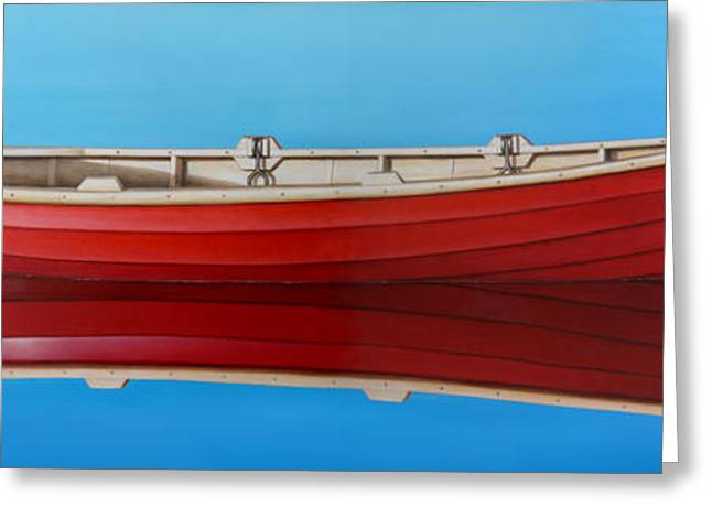 Boat Greeting Cards - Red Boat Greeting Card by Horacio Cardozo
