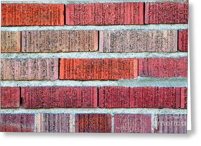 Stonewall Greeting Cards - Red Brick Wall Greeting Card by Henrik Lehnerer