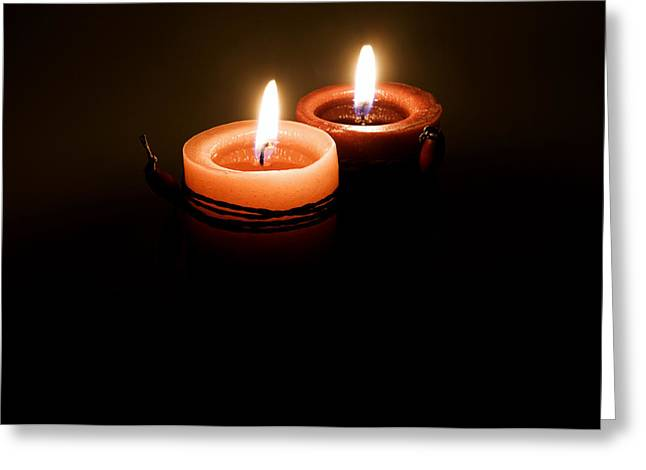 Candle Lit Greeting Cards - Red candles Greeting Card by Fabrizio Troiani