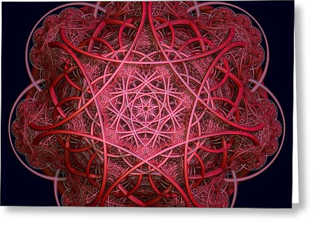 Gt Greeting Cards - Red Celtic Greeting Card by Gt