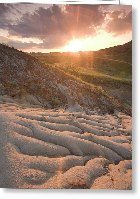 Red Clay Greeting Cards - Red Clay Rocks Are Exposed By Erosion Greeting Card by Phil Schermeister