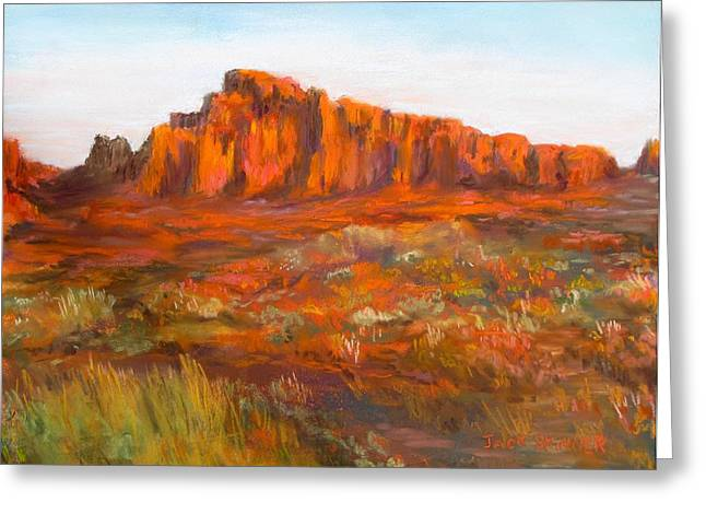 Red Cliffs Greeting Card by Jack Skinner