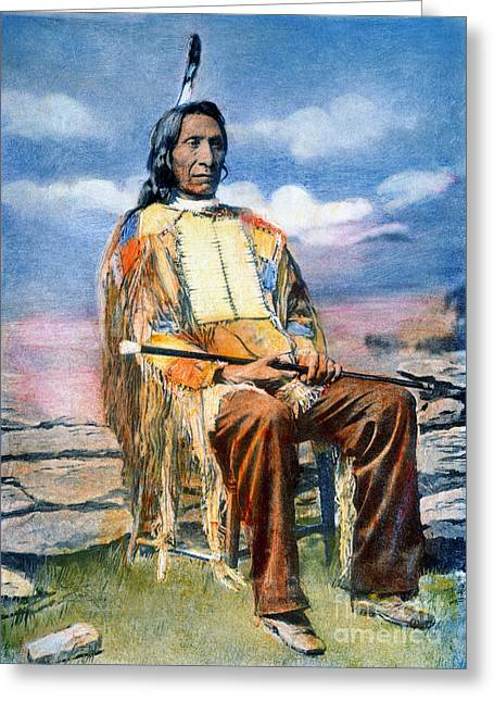 Chief Red Cloud Greeting Cards - Red Cloud (1822-1909) Greeting Card by Granger