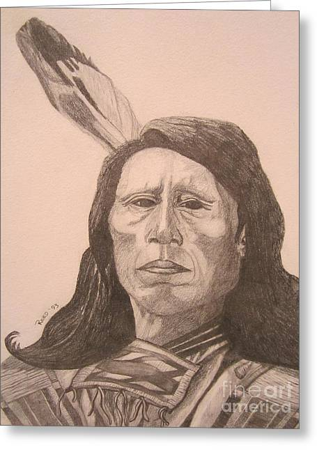 Chief Red Cloud Greeting Cards - Red Cloud Greeting Card by Elizabeth Reed
