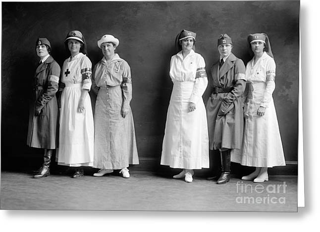 Armband Greeting Cards - RED CROSS CORPS, c1920 Greeting Card by Granger