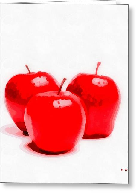 Red Delicious Apples Greeting Card by Elizabeth Coats