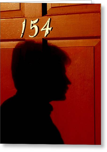 Profile Shadow Greeting Cards - Red Door 154 Greeting Card by Tony Ramos
