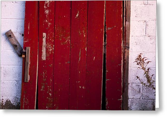 Red Door Greeting Card by Cale Best