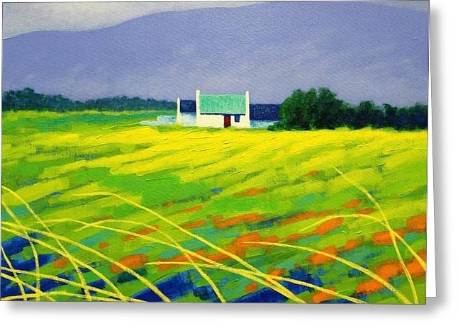 Landscape Posters Greeting Cards - Red Door County Wicklow Greeting Card by John  Nolan