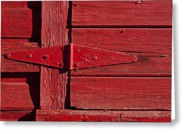 Red Doors Greeting Cards - Red door henge Greeting Card by Garry Gay
