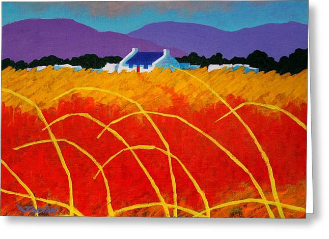 Landscape Posters Greeting Cards - Red Door Greeting Card by John  Nolan
