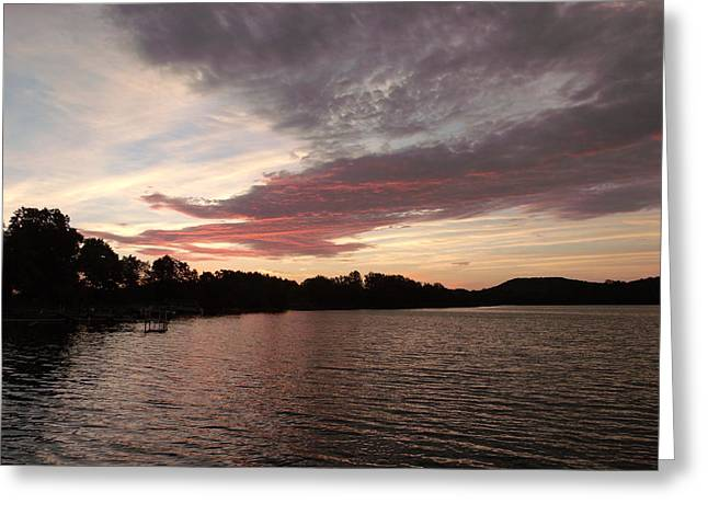 Red Dragon Lake Greeting Card by Brian  Maloney
