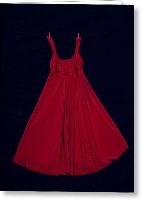 Red Dress Greeting Cards - Red Dress Greeting Card by Joana Kruse