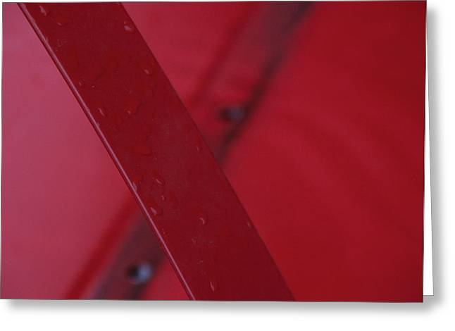 No Limits Greeting Cards - Red Ex Greeting Card by Odd Jeppesen