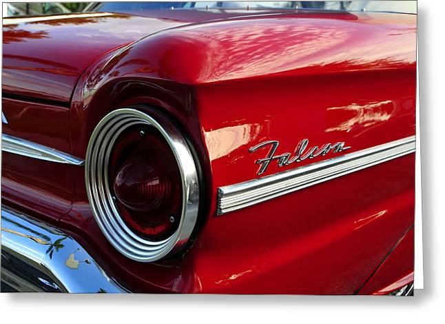 1963 Ford Greeting Cards - Red Falcon Greeting Card by David Lee Thompson