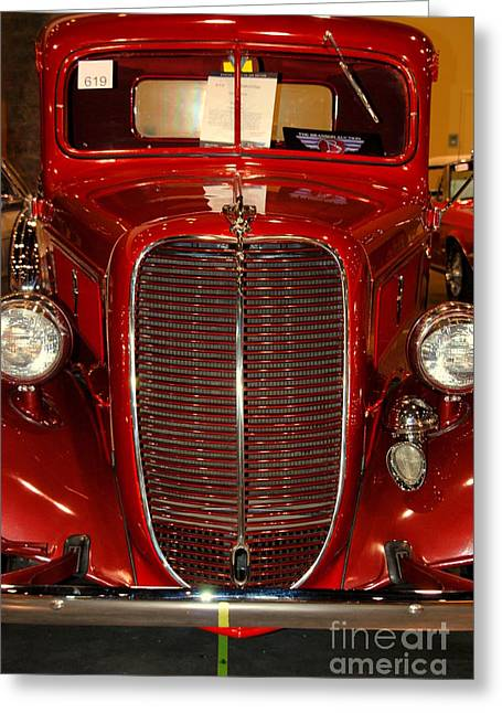 Auction Greeting Cards - Red Ford Greeting Card by Susanne Van Hulst