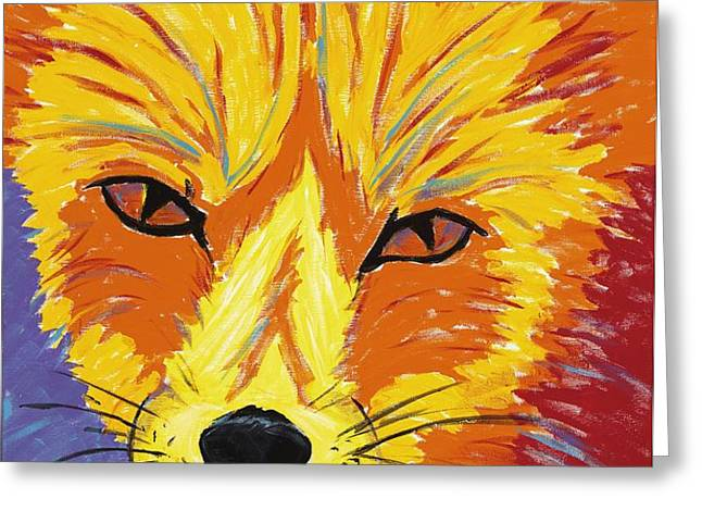Red Fox Greeting Card by Peggy Quinn