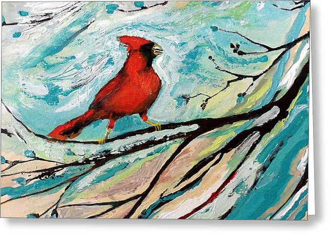 Red Fury Greeting Card by Cynara Shelton