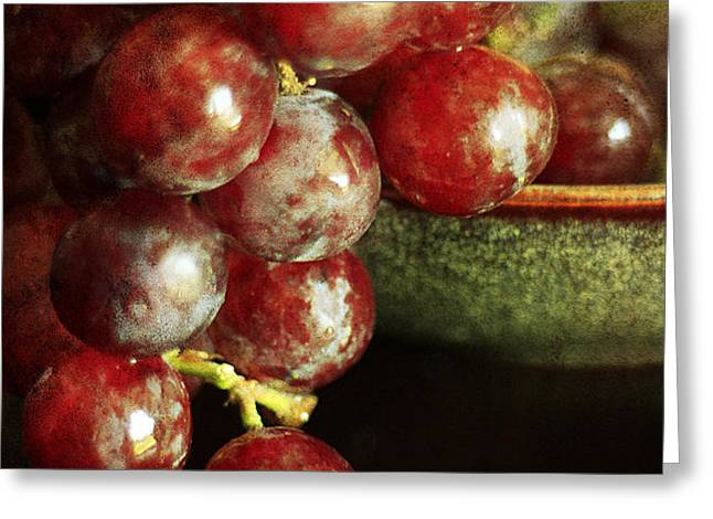 Red Grapes Greeting Card by Darren Fisher