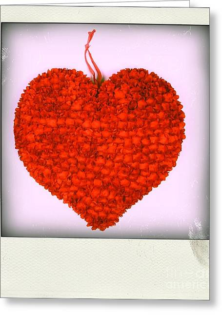 Background Greeting Cards - Red heart Greeting Card by Bernard Jaubert