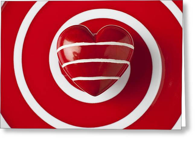 Red Heart Soft Stone Greeting Card by Garry Gay