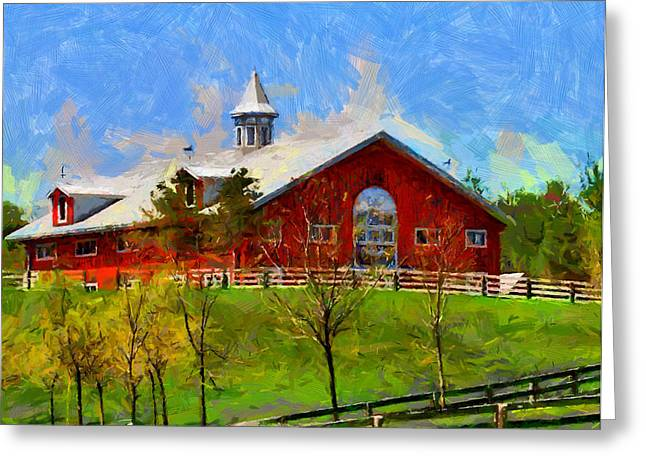 Vincent Dinovici Greeting Cards - Red House in Caledon TNM Greeting Card by Vincent DiNovici