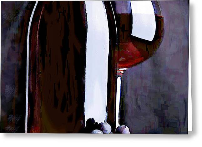 Red in the Shadows Greeting Card by Elaine Plesser