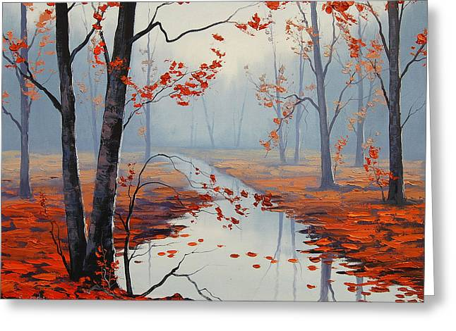 Fall Trees Greeting Cards - Red Leaves Greeting Card by Graham Gercken