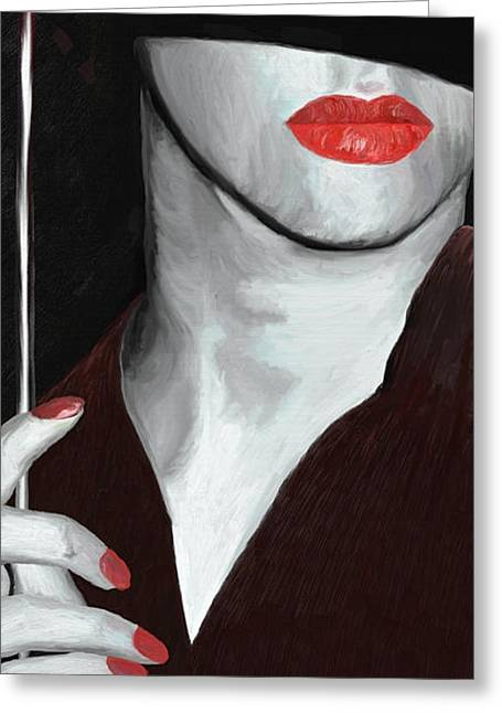 Red Lips Greeting Card by James Shepherd