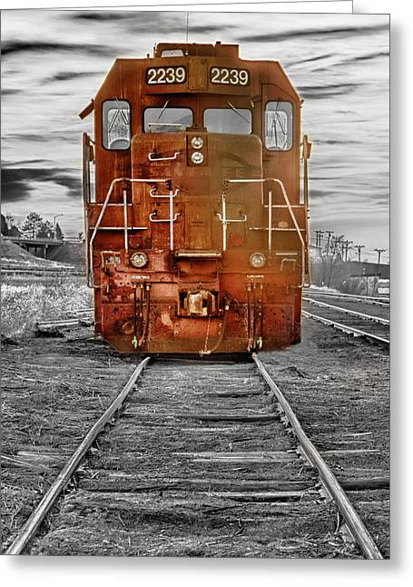 Insogna Greeting Cards - Red Locomotive Greeting Card by James BO  Insogna
