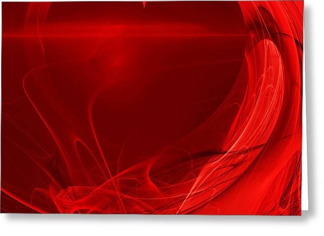 Red Love . A120423.279 Greeting Card by Wingsdomain Art and Photography