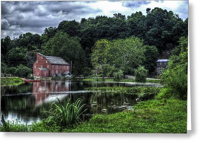 Hunterdon County Greeting Cards - Red MIll Greeting Card by Ryan Crane