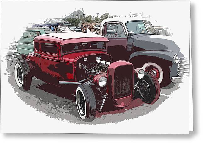 Red Model A Coupe Greeting Card by Steve McKinzie