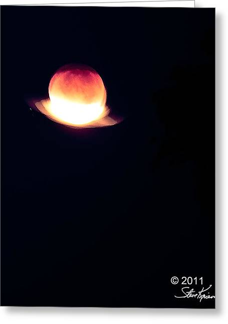 Steve Knievel Greeting Cards - Red Moon Eclipse cropped Greeting Card by Steve Knievel