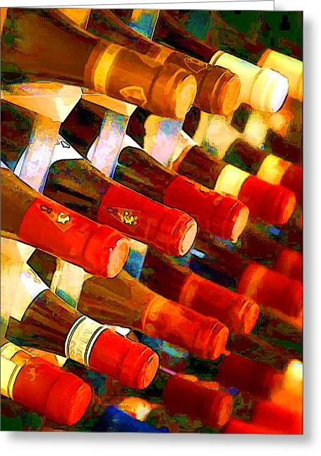 Red Or White Greeting Card by Elaine Plesser