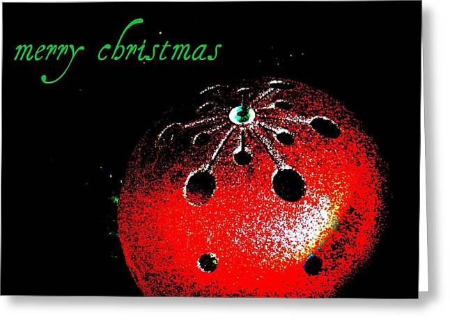 Christmas Greeting Photographs Greeting Cards - Red Ornament Greeting Card by Chris Berry