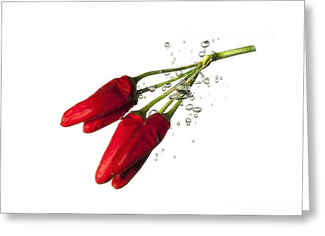 Aphrodisiac Greeting Cards - Red Pepper Greeting Card by Alessandro Matarazzo
