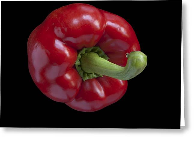 Edibles Greeting Cards - Red Pepper Greeting Card by Heiko Koehrer-Wagner