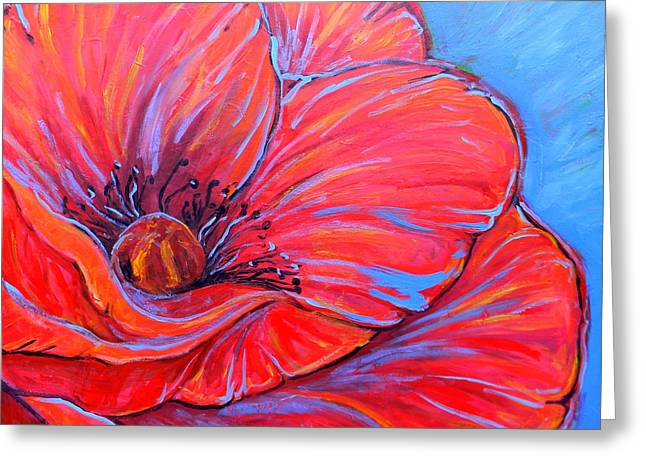 Jenn Cunningham Greeting Cards - Red Poppy Greeting Card by Jenn Cunningham