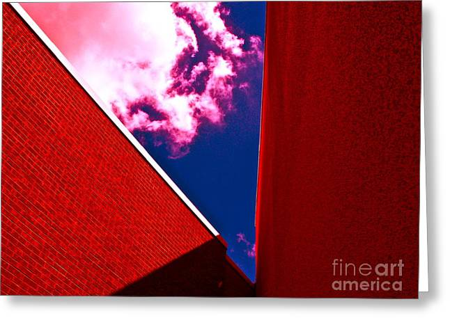 Wal Greeting Cards - Red Prison Greeting Card by Chuck Taylor