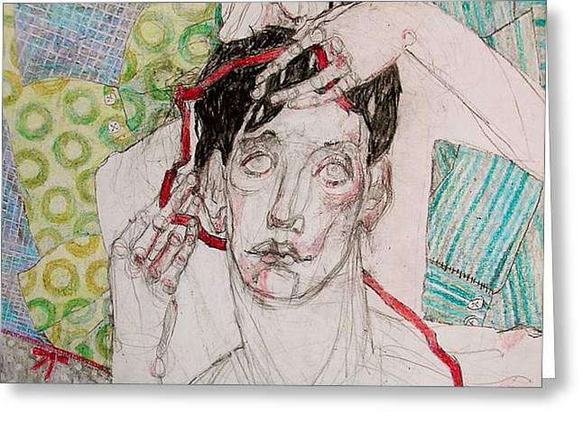 Red ribbon Greeting Card by Evgeniya Zueva