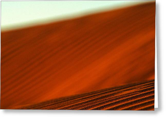 Sand Patterns Greeting Cards - Red ridge Greeting Card by Alistair Lyne