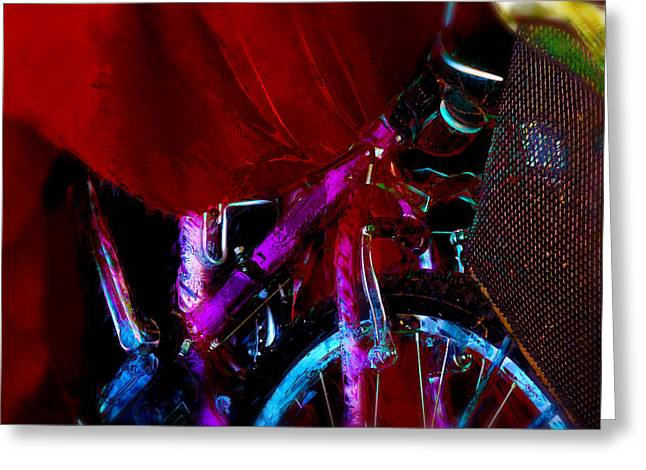 Spokes Paintings Greeting Cards - Red Ridinghood Greeting Card by Carl Rolfe